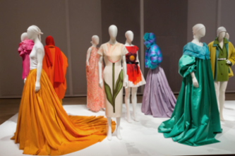 Installation view of Isaac Mizrahi: An Unruly History at the Jewish Museum, 2016