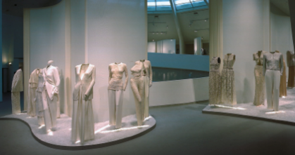 Installation view of Armani exhibit at the Guggenheim Museum, 2000